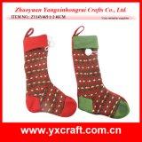 Natal da decoração do Natal (ZY15Y078-1-2) feito malha estocando a decoração do suporte do presente