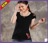 Fashion Sexy T-shirt impresso para as mulheres (W202)