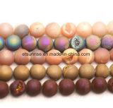 Joyería moldeada Drusy cristalina natural de Geode de la piedra preciosa semi