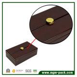 Caja de vino de madera abierta de alta calidad hecha a mano