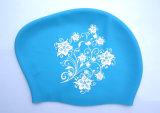 花模様の伸縮性があるシリコーンの女性のための防水水泳帽