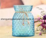 Botella de cristal colorida de la venta caliente, florero de cristal para la decoración casera