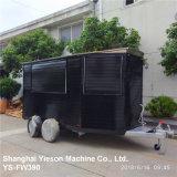 Ys-Fw390 Camión de madera negra de remolque Móvil de Alimentos