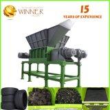 Grande capacité pour 500 kilogrammes de poudre en caoutchouc par défibreur d'arbre de double d'heure