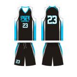 Nouveau design de couleur noire uniforme de basket-ball pour Smith Shark Club de basket-ball
