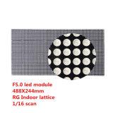 Il formato dell'interno dei puntini del modulo 64X32 della matrice a punti di F5.0 RG è 488X244mm P7.62 LED con Hub08, 1/16 di esplorazione