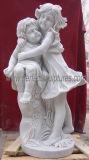 石造りの大理石の切り分ける天使の彫像の天使の彫刻(SY-X042)