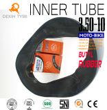 Tube butylique initial 3.50-10 de scooter de chambre à air de tube de moto de tube