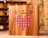 Alta calidad caliente de la venta que impermeabiliza el álbum de madera del bebé del atascamiento de alambre de la cubierta, álbum de la boda