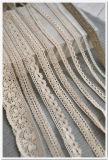 El bordado de encaje de algodón para accesorio de vestido de dama