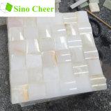 Prix de tuile de mosaïque de marbre d'Onyx de blanc chinois