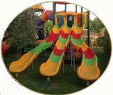 高品質のマルチスライドの屋外の運動場の子供の運動場のスライド(HK-50034B)