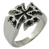 De gotische Ring van het Roestvrij staal van de Schedel van Juwelen Dwars