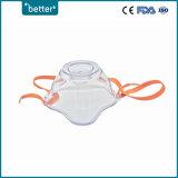 Kit portatile a gettare della mascherina del nebulizzatore con la tubazione dell'ossigeno