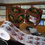 Essuie-main estampé par coutume bon marché de papier de soie de soie de salle de bains de rouleau de papier hygiénique