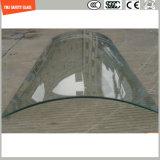 Скачками Tempered изогнутое стекло для конструкции и ливней