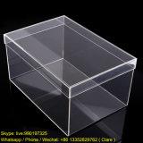 Boîte à chaussures en acrylique transparente, boîte de rangement Lucite