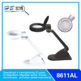 円形の黒くか白いLEDsの拡大鏡ランプ