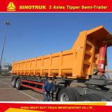 2개의 차축 트레일러 30-40 톤 팁 주는 사람 또는 반 덤프 트레일러 트럭 트레일러