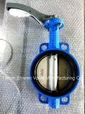 Roheisen-EPDM ausgekleidetes Oblate-Drosselventil mit Hebelkraft