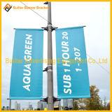 De Inrichting van de Banner van de Reclame van Pool van de Straatlantaarn van het metaal (BS-hs-007)