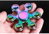 Bunter sechs Raupe-Handspinner-Metallunruhe-Spinner für Autismus-und Adhd Kinder Spiner Tri Finger-Spielzeug-Unruhe-Druck