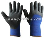 Песчаная нитриловые перчатки с покрытием для зимы (N1580)