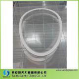 Vidro branco temperado de 3 mm 5 mm e 5 mm para iluminação Painel de vidro com sandblast