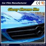 Coche brillante de la película del cromo que envuelve el vinilo del abrigo del coche