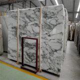 Het Witte Marmer Arabescato van uitstekende kwaliteit met Bewolkte Plak