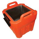 Caixa de almoço plástica feita sob encomenda da caixa de almoço de três casos