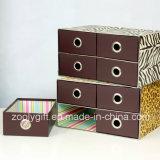 MultifunktionsLepard/Zebra-Druckpapier-Speicher-Organisator-Kasten mit Fach 4