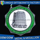 Metallo olimpico della medaglia dei medaglioni di sport di colore del cliente
