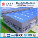 Edificio modular prefabricado grande de la fábrica del almacén de la estructura de acero de Medio Oriente Porject