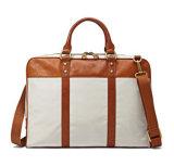 Модный дизайн торговой марки Canvas кожаные сумка для ноутбука плечо мешок для бизнеса