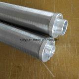 Backwashing 30 Mícron 304 Entalhe de aço inoxidável do elemento do Fio