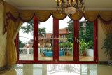 Portello di vetro di alluminio del popolare del grano di legno per la Camera