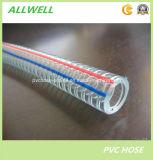Шланг стального провода PVC пластмассы усиленный для порошка воды и разрядки индустрии