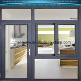 Portes en aluminium de Windows avec le modèle le plus neuf et les configurations cassées de passerelle