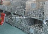 Contenitore d'impilamento pieghevole della rete metallica di memoria del magazzino approvato del Ce