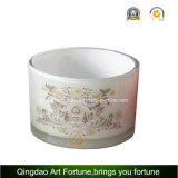 Glass Tumbler Candle Holder con pintura de diseño helado