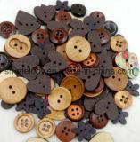 Beaux boutons / icônes en bois pour les articles de scrapbooking et bricolage