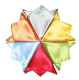 Оптовая торговля моды Обычный цветной благородных мужчин шелк Handkerchief (белый02)