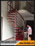 現代ステンレス鋼の屋内螺旋階段