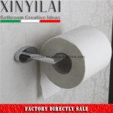 Tubo oval de latón de papel higiénico titular con acabado cromado