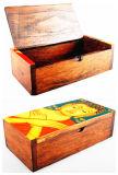 Boîte de rangement en bois de stockage du bouddhisme sain (WB-073)