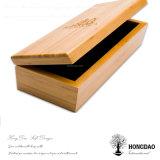 Rectángulo de empaquetado de madera de lujo hecho a mano de Hongdao con el rectángulo de regalo con bisagras de la tapa Price_E al por mayor de madera