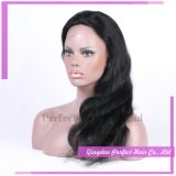 Peluca llena natural del cordón del pelo humano del pelo humano de la rayita de Glueless