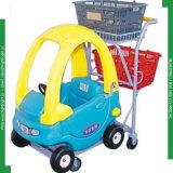 Carrello d'acquisto dei bambini di plastica per il supermercato