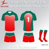 Il più nuovo stile di Healong mette in mostra il pullover di rugby di sublimazione del randello della squadra dell'attrezzo dell'abito